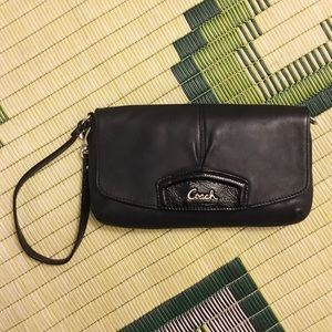 Coach: Leather Flap Wristlet Wallet & Clutch